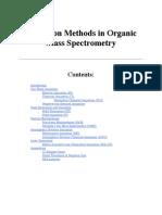 Ionization methods in mass pectroscopy