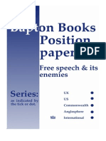Bapton Books Position Paper