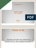 Tema 22 Revolucion Filosofico Cientifica
