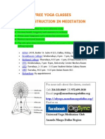 Yoga Classes Poster