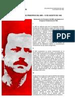 Declaración de Principios del MIR, aprobada en el Congreso Fundacional de 1965