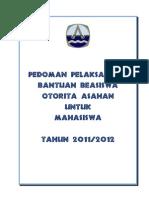 pedoman beasiswa 2011-2012