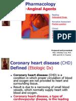 Cardiovascular Pharmacology_Anti Aniginal Agents