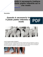 Newsletter_piede Piatto Infantile - Dott.Raffaello Riccio - www.raffaelloriccio.com