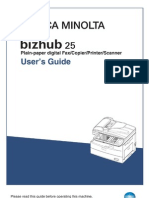 Bizhub 25 User Guide