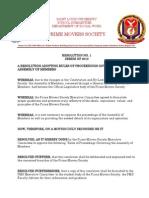Resolution No. 1, Series of 2010