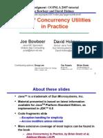 Java Concurrency Framework