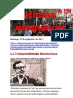 Noticias Uruguayas Domingo 23 de Setiembre Del 2012
