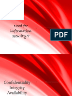 Need for Information Security