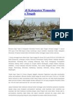 Angin Topan Di Kabupaten Wonosobo Provinsi Jawa Tengah