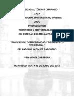 INNOVACIÓN, COMPETITIVIDAD Y DESARROLLO TERRITORIAL-ANTONIO VÁZQUEZ BARQUERO