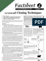 121.Artificial Cloning Techniques