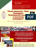 MATRIZ DE LA PRUEBA ÚNICA REGIONAL y habilidades docentes (SUTEP, 2012)