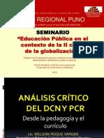 Análisi crítico del DCN y PCR (SUTEP Regional Puno, marzo de 2012)