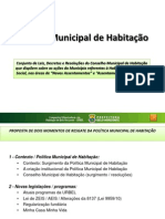 Política Municipal de Habitação - DEFINITIVA