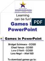Games in PowerPoint CCISD