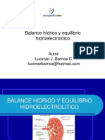Balance Hidrico Equilibrio Hidroelectrolitico