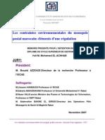 Les Contraintes Environnementales Du Monopole Postal Marocain