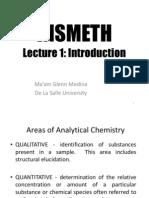 Instrumental methods of analysis part1