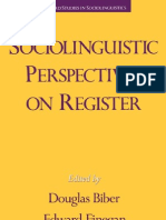 Biber - Finegan, Sociolinguistic
