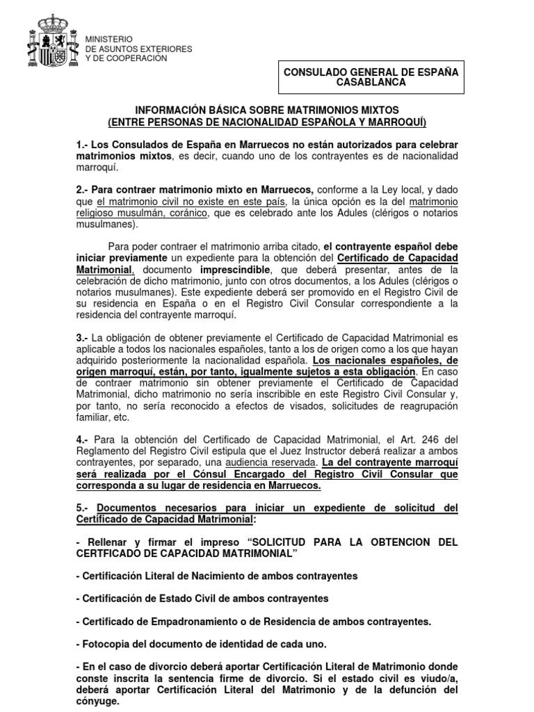 INFORMACIÓN BÁSICA SOBRE MATRIMONIOS MIXTOS