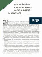 Los aromas de los Vinos Blancos y Rosados Jóvenes. Componentes y Técnicas de Elaboración (1990)