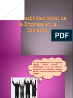 Responsabilidad Moral de La Empresa en La Sociedad