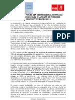 Manifiesto por el Día Internacional contra la explotación sexual y la trata de personas PSOE 2012