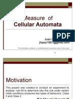 Measure Cellular Automata