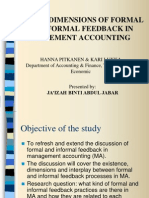 3 Dimension of Formal and Informal Feedback