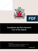 Anaesthesia and Perioperative in Eldery Patients