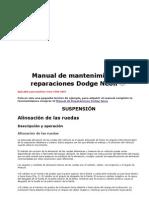 Manual de Mantenimiento y Reparaciones Dodge Neon