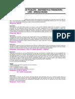Matemática Financeira - Exercícios de Fixação