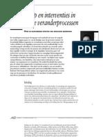 Ardon a.J. (2006) Leiderschap en Interventies in Stagnerende Veranderprocessen