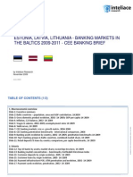 ESTONIA, LATVIA, LITHUANIA - BANKING MARKETS IN THE BALTICS 2009-2011 - CEE BANKING BRIEF