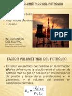 Factor Volumétrico de Formación del Petróleo jhoreti,  Erick