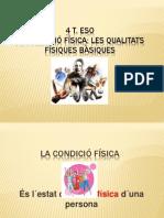PRESENTACIO PPT CONDICIÓ FÍSICA 4 T. ESO