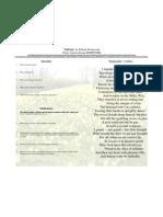 Daffodils Poetry Analysis Frame