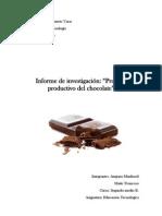 Informe de Tecnologia Chocolate