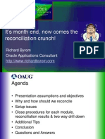 Oracle Reconciliation Oaug
