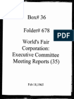 World's Fair Corporation - Executive Committee Meeting Reports - 02-18-1965