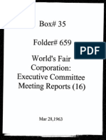 World's Fair Corporation - Executive Committee Meeting Reports - 03-28-1963