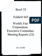 World's Fair Corporation - Executive Committee Meeting Reports - 10-16-1963