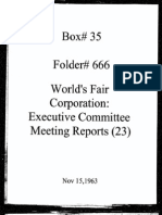 World's Fair Corporation - Executive Committee Meeting Reports - 11-15-1963