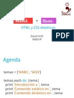 Haml y Sass - CSS y HTML dietéticos
