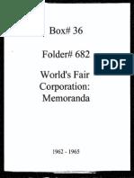 World Fair Corporation Memoranda 1962-1965