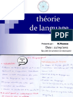 théorie de language (FSm 1 science)