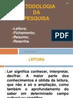 1_Metodologia Da Pesquisa,Resenha, Fichamento