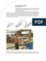 Cómo hacer esteras planas de bambú www.guaduabamboo.com