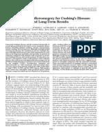 Transsphenoidal Microsurgery for Cushing's Disease